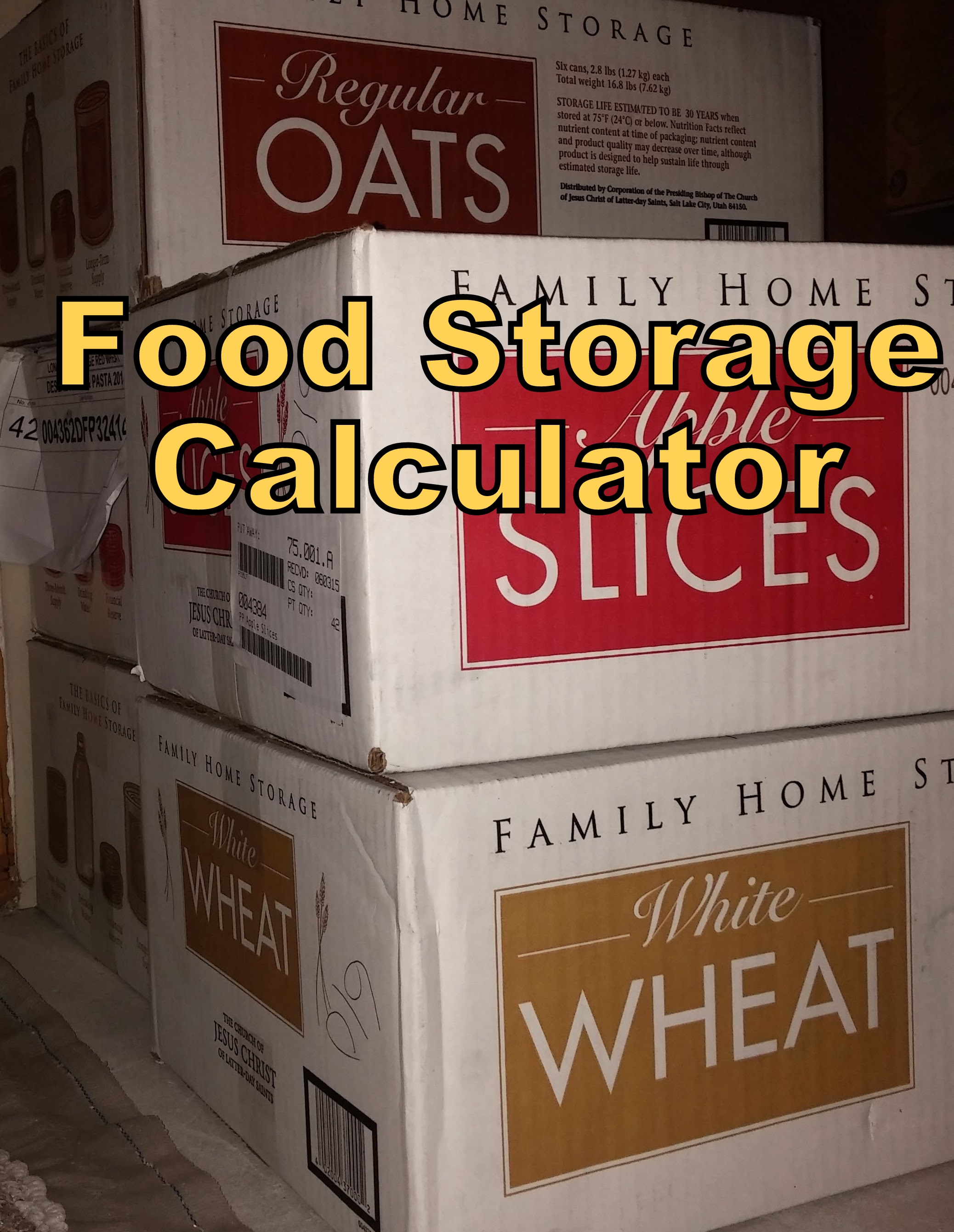 Food Storage Calculator Queenofcraftydotcom